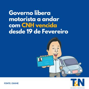 Governo libera motorista a andar com CNH vencida desde 19 de fevereiro